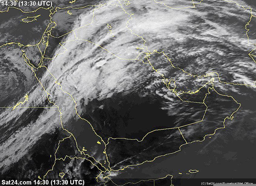 تصویر ماهوارهای از پوشش ابر فعلی کشور