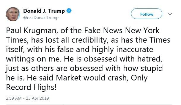 حمله ترامپ به برنده جایزه نوبل اقتصاد: او چقدر احمق است!/ عکس
