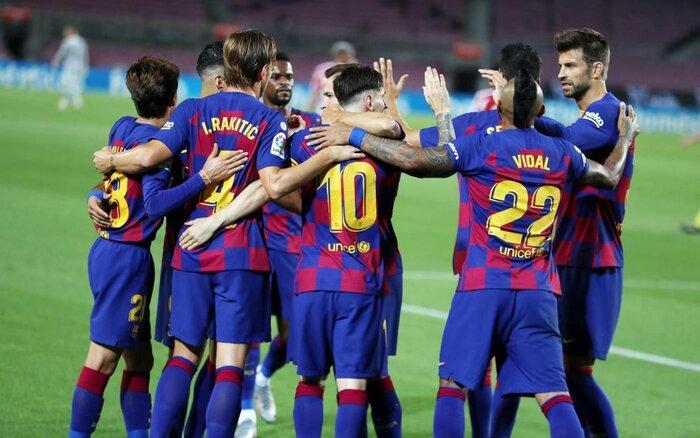 بارسلونا سند سقوط اسپانیول را امضاء کرد