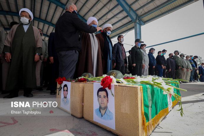 تصاویر| تشییع «شهدای محیطبان» در زنجان