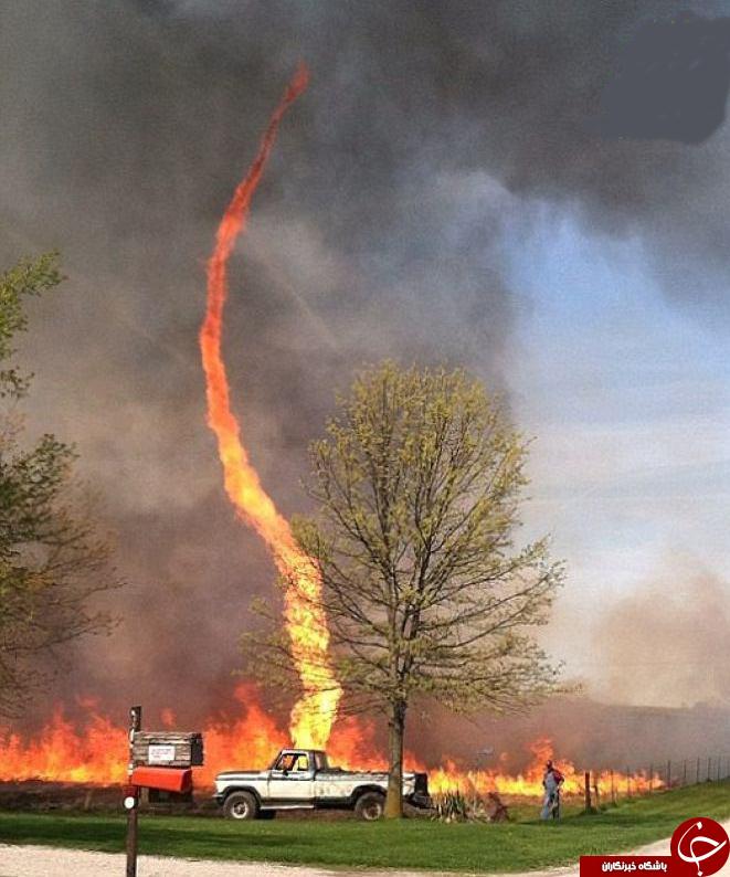 گردباد آتشین دیده اید؟ +عکس