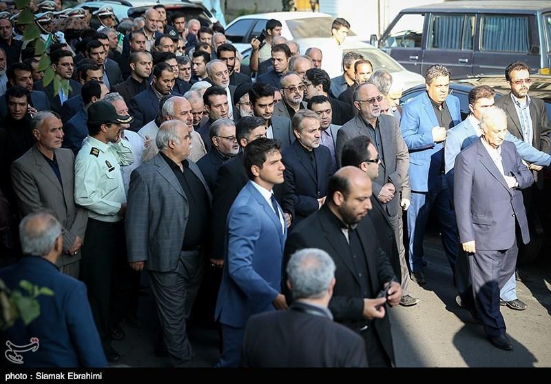 ترافیک چهره ها در مراسم تشییع پیکر مرحوم «یوسف نوبخت» +تصاویر