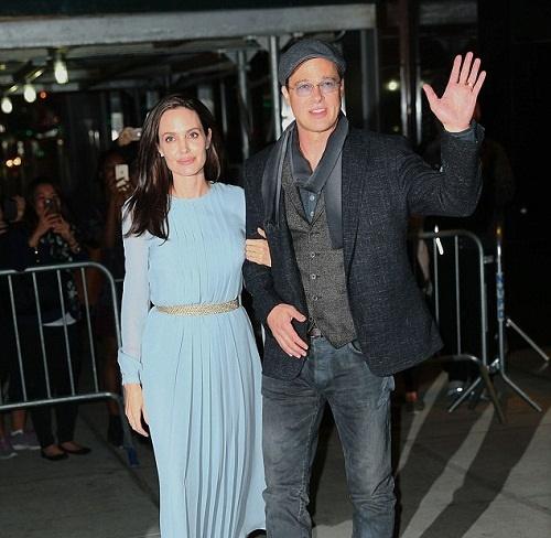آنجلینا جولی و برد پیت پیش از نمایش «در کنار دریا» +تصاویر