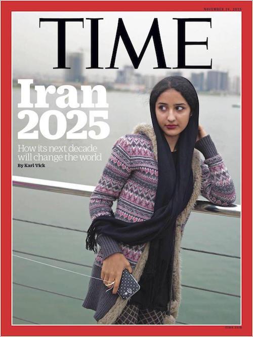 تصویر دختر ایرانی روی جلد مجله «تایم»