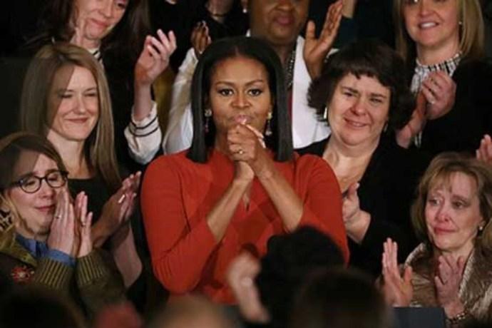 خداحافظی احساسی میشل اوباما
