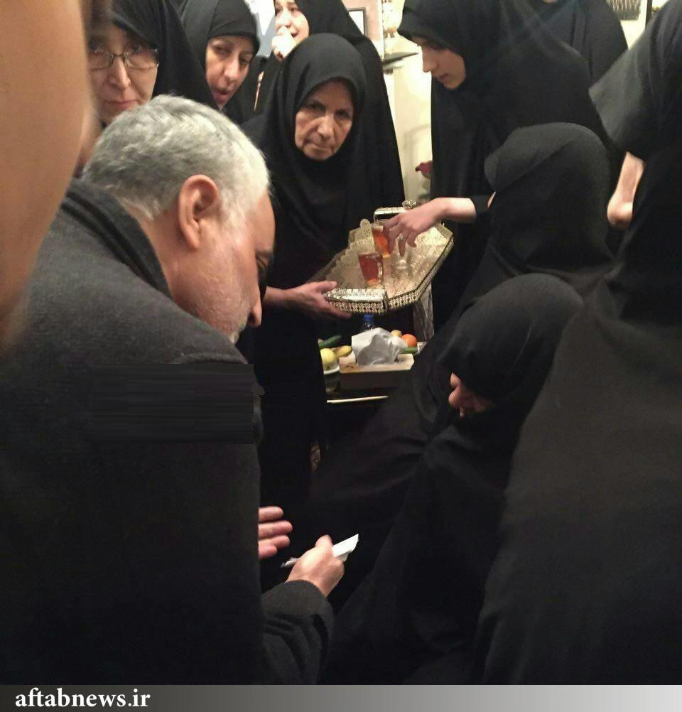 عکس/ تسلیت حاج قاسم سلیمانی به همسر آیت الله