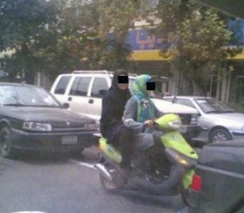 دستگیری 2 دختر موتورسوار در دزفول+تصویر
