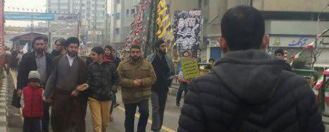 عکس/ حضور فرزند مقام معظم رهبری در مراسم راهپیمایی ۲۲ بهمن