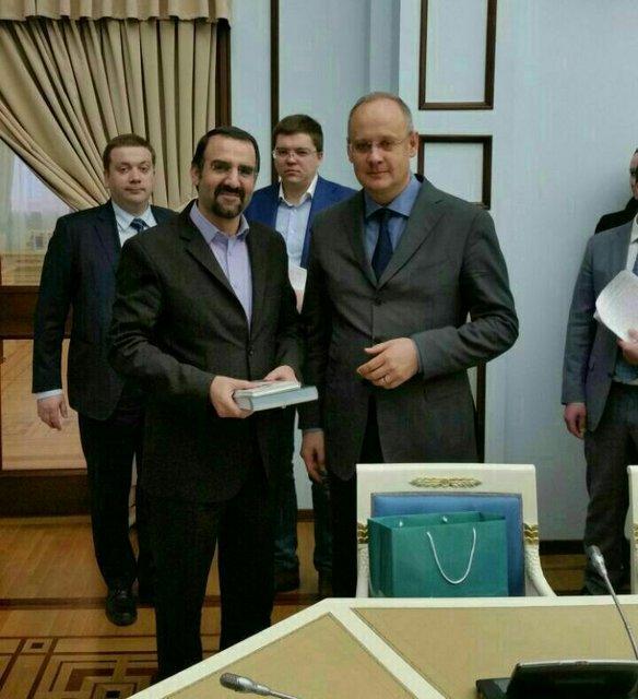 دیدار سفیر ایران در روسیه با مشاور پوتین+تصویر