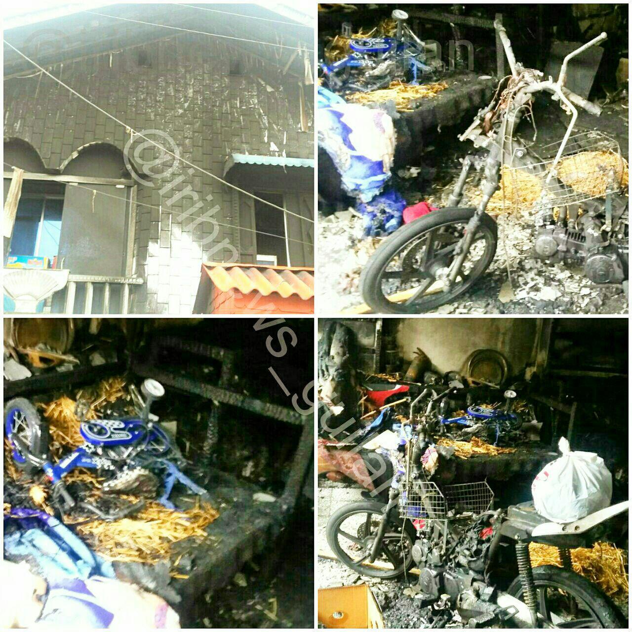 آتشسوزی یک واحد مسکونی در  لنگرود/تصویر