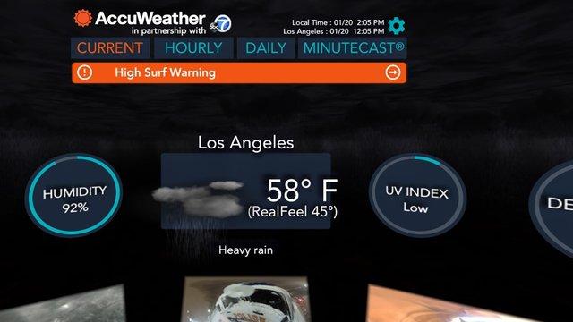 مشاهده وضعیت آب و هوایی با واقعیت مجازی