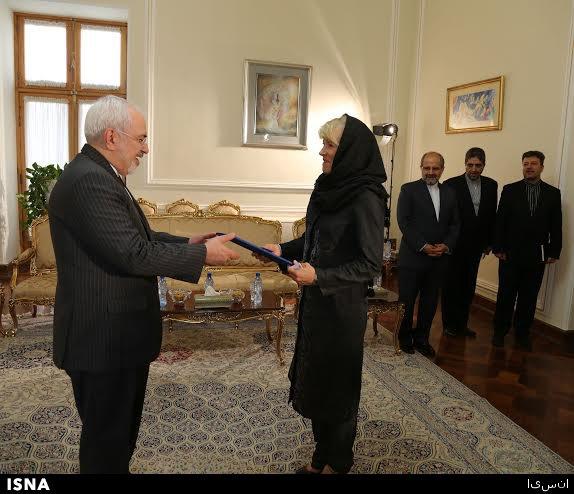 دیدار رییس جدید مرکز اطلاعات سازمان ملل در تهران با ظریف+تصویر