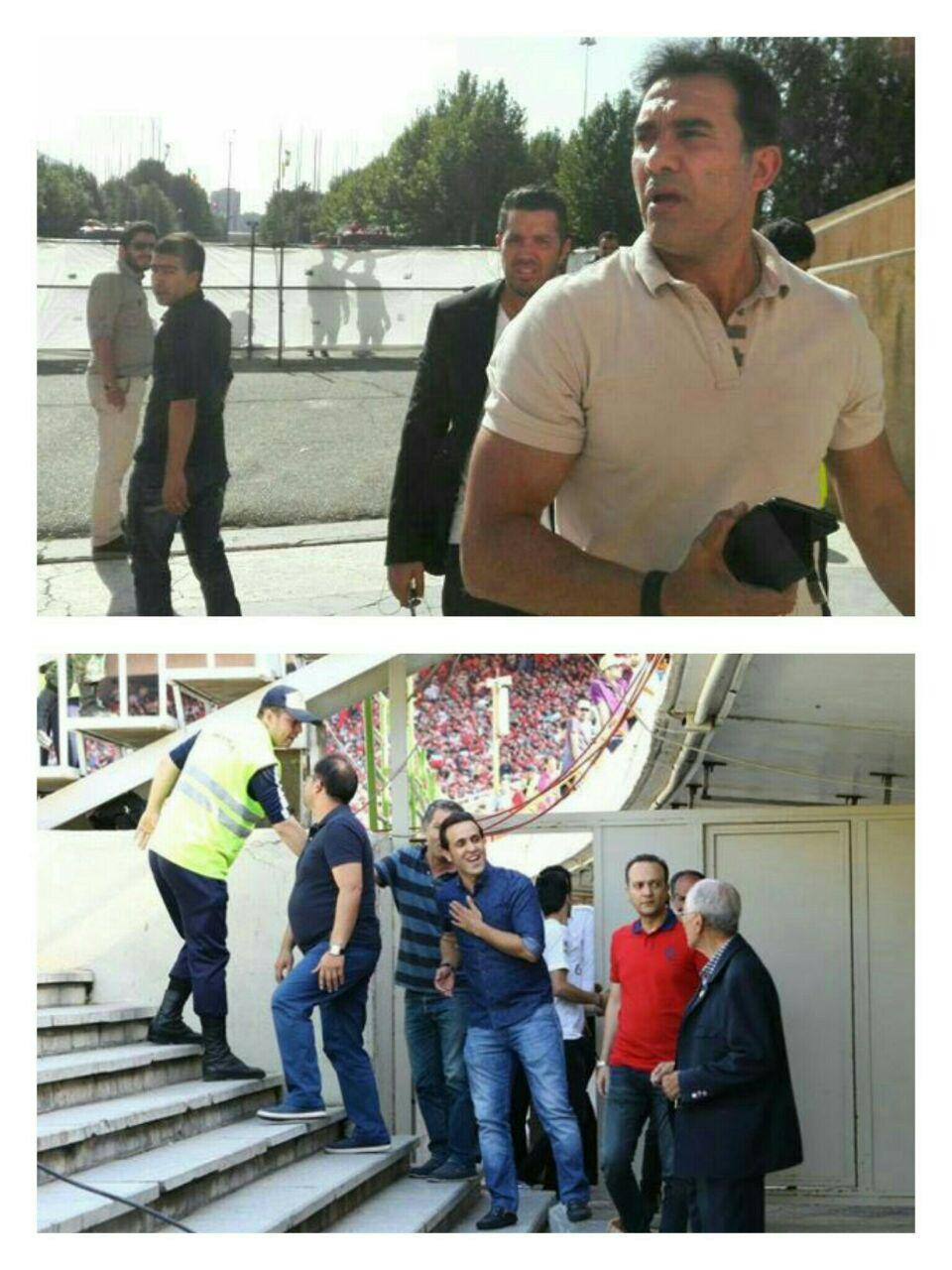 حضور علی کریمی و عابدزاده در ورزشگاه آزادی+تصاویر