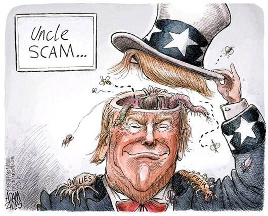 کاریکاتور/ باطن ترامپ!