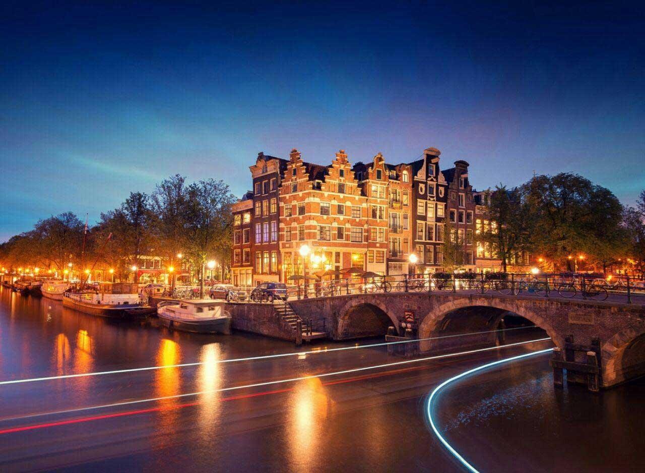 نمایی زیبا از شهر آمستردام /عکس