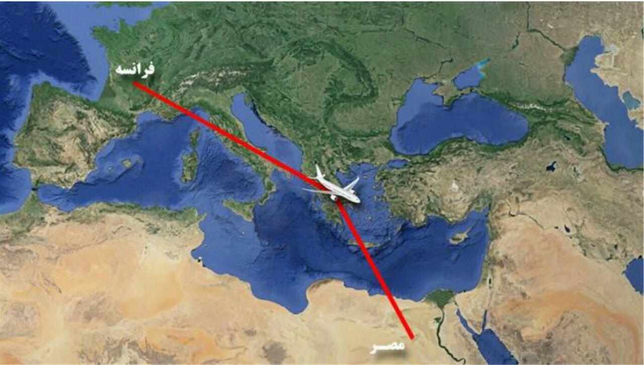 هواپیمای مسافربری مصر با ۶۹ سرنشین ناپدید شد