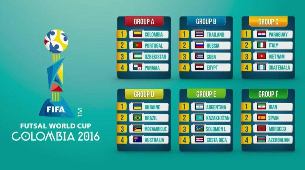 همگروهی ایران با اسپانیا در جام جهانی فوتسال