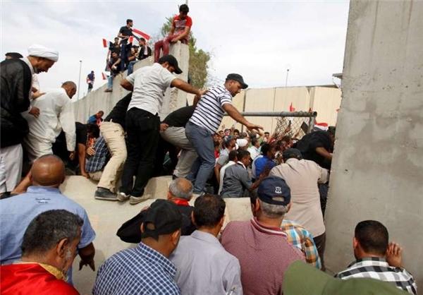 معترضین بار دیگر وارد منطقه سبز بغداد شدند+تصویر