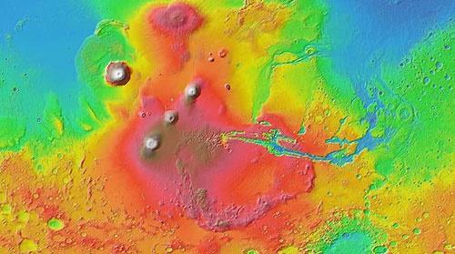 سونامیهای عظیم مریخ را به شکل امروزی تبدیل کرد
