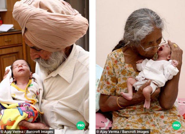 زن هندی در ۷۰ سالگی مادر شد +تصاویر