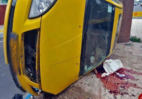 مرگ دلخراش راننده تاکسی عکس (18+)