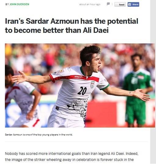 یادداشت ویژه سایت ESPNFC درباره آزمون/سردار پتانسیل بهترشدن از علی دایی را دارد+تصویر
