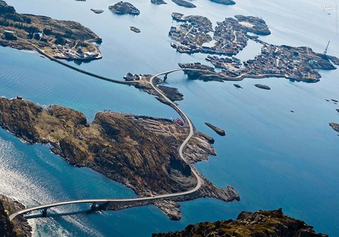 تصاویر/ جاده نفسگیر در نروژ