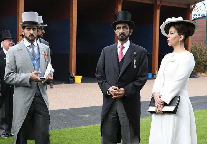 حاکم دبی و همسرش در لندن /عکس