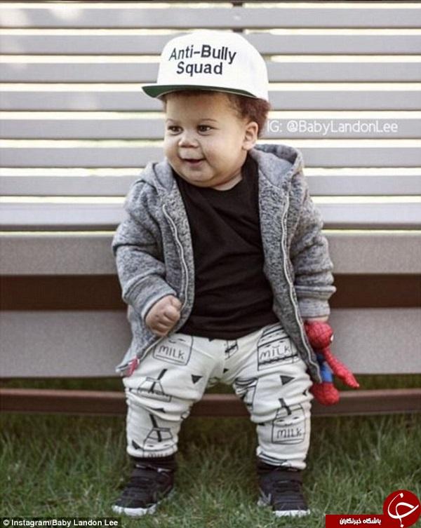 این کودک تپل 50000 فالوئر دارد +تصاویر