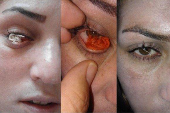چشمان زنی که نخ میسازد شایعه یا واقعیت!؟ +عکس
