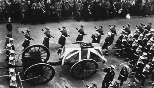 تشیع جنازه چرچیل به روایت تصویر