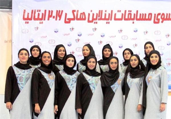 پوشش ایرانی - اسلامی تیم ملی بانوان اسکیت هاکی +عکس