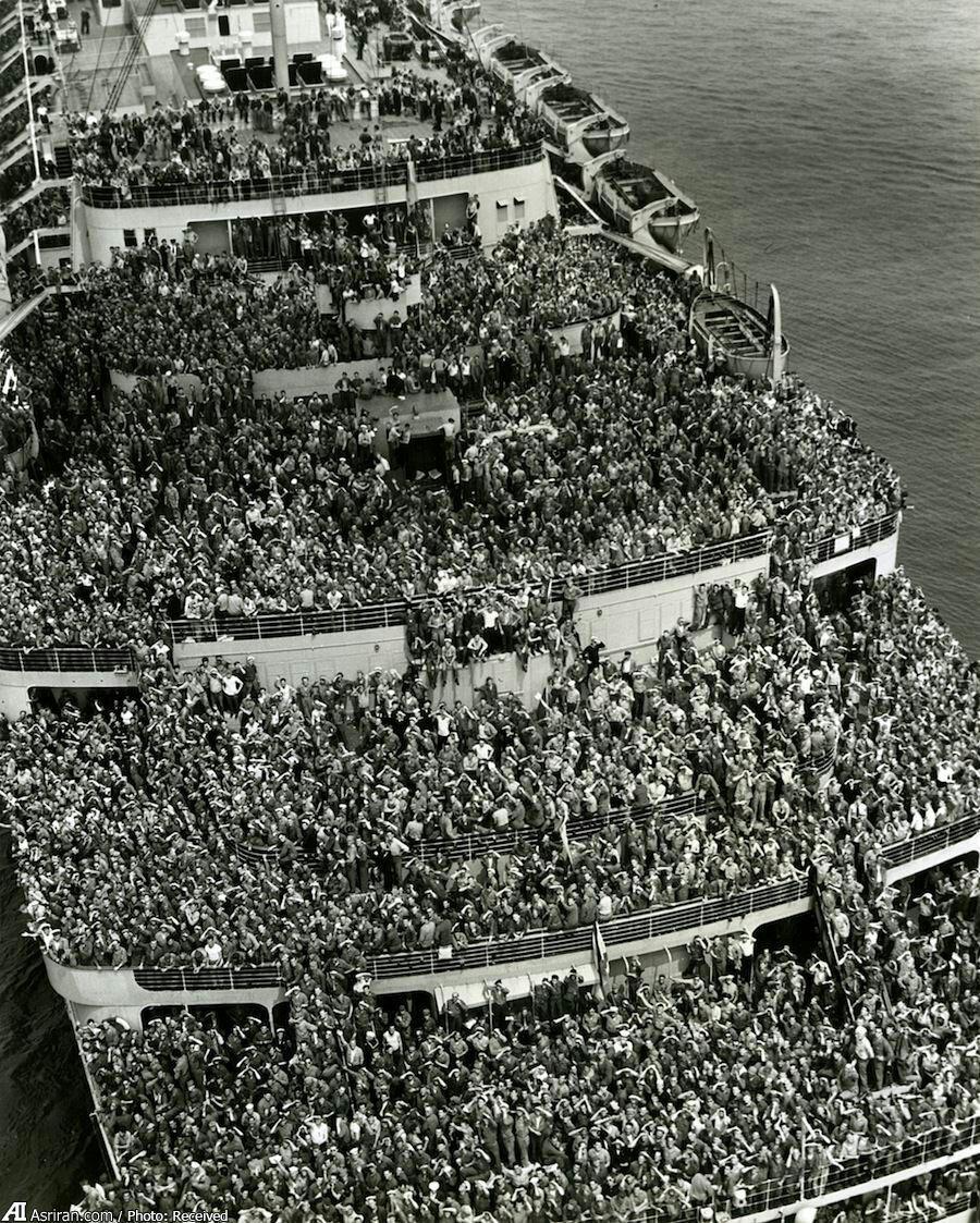 تصویر/ صحنهای بینظیر از جنگ جهانی دوم