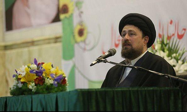 آرزوی سید حسن خمینی برای عارف و تقدیر از لاریجانی