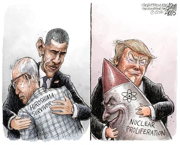 کاریکاتور/ در آغوش ترامپ!