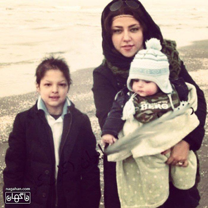عکس/ همسر و پسران شهاب حسینی