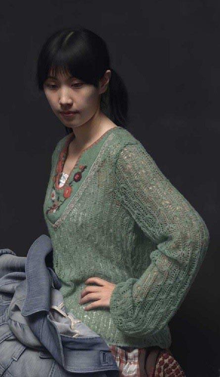 این زن چینی فقط یک نقاشی است+تصاویر