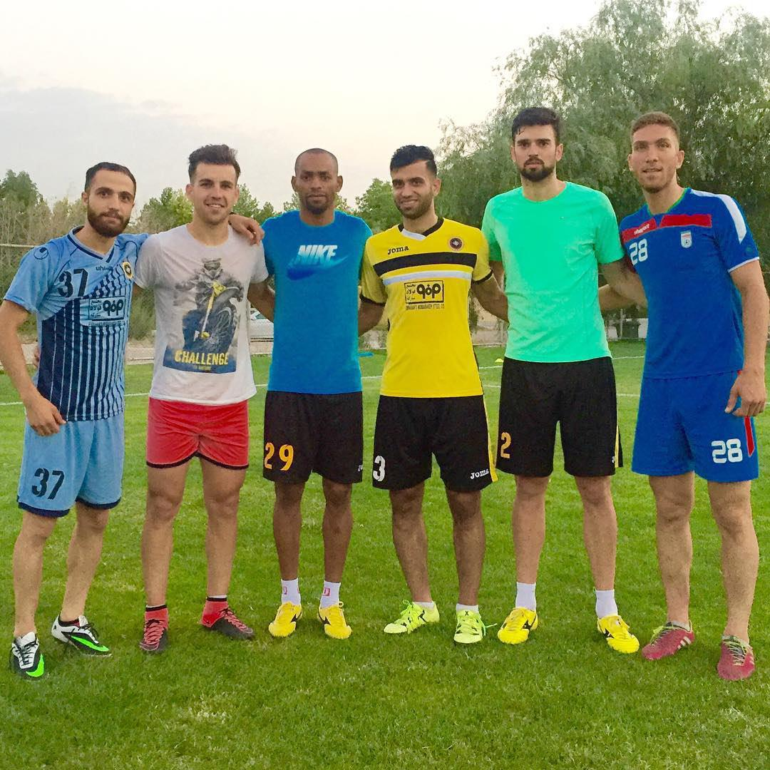 تمرین دو بازیکن برزیلی در اصفهان+تصویر