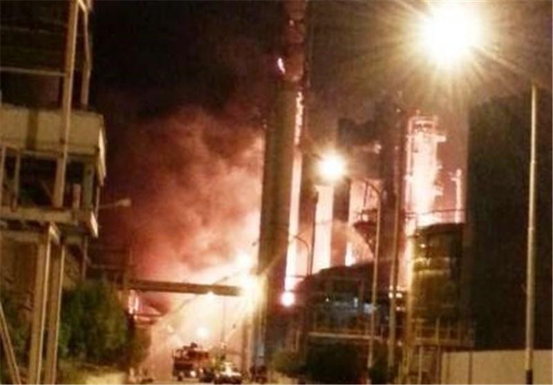 آتش در مجتمع پتروشیمی ماهشهر خاموش شد