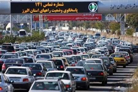 ترافیک در ورودی جنوبی جاده چالوس سنگین شد
