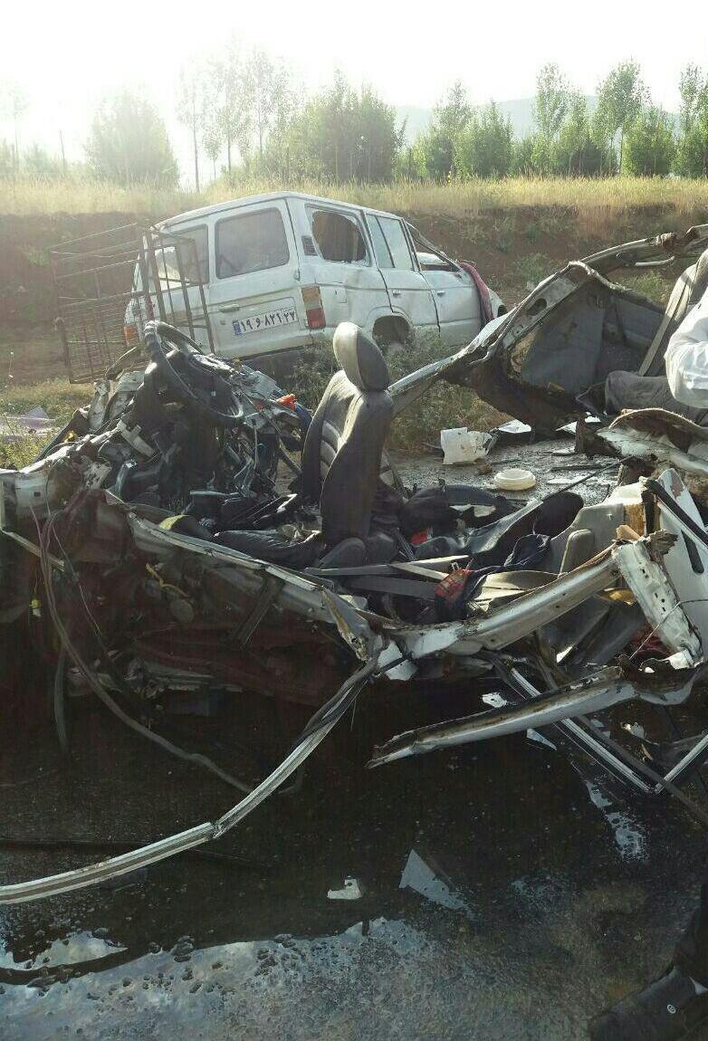 4 کشته در تصادف پراید+عکس