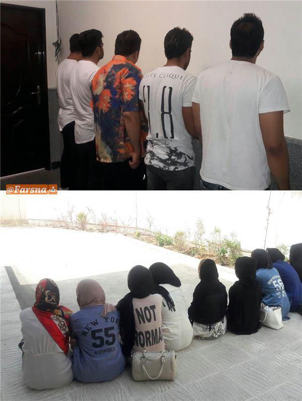 دستگیری 15 دختر و پسر+تصاویر