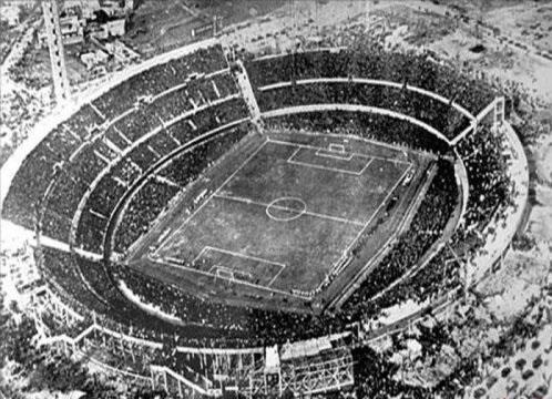 تصویر واضح از الت تصویر هوایی از اولین فینال جام جهانی فوتبال - واضح