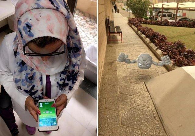 دختران عربستانی و دردسر بازی «پوکمون گو»