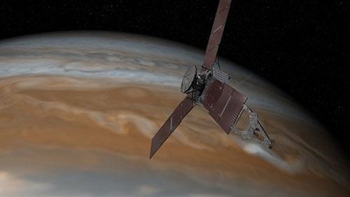 فضاپیمای جونو در نزدیکترین فاصله به مشتری/هیجان نجومی