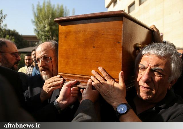 پیکر داود رشیدی بدرقه شد / «سوگ عظیم رشید سینمای ایران» +تصاویر