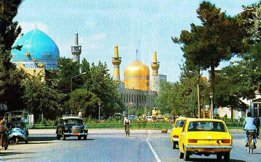 خیابان امام رضا مشهد در دهۀ 1340
