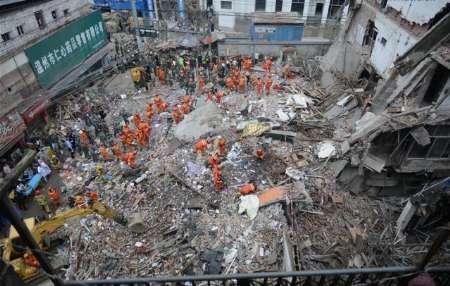 کشتهشدن 20 نفر بر اثر ریزش چندساختمان در چین+تصاویر