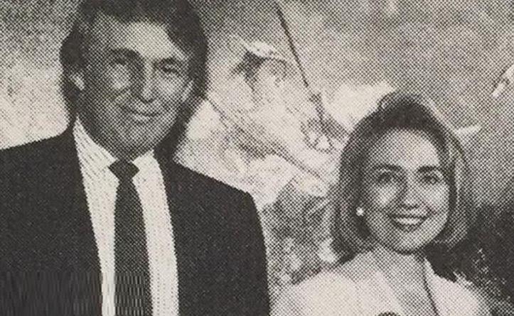 عکس قدیمی از « هیلاری_کلینتون» و «ترامپ»