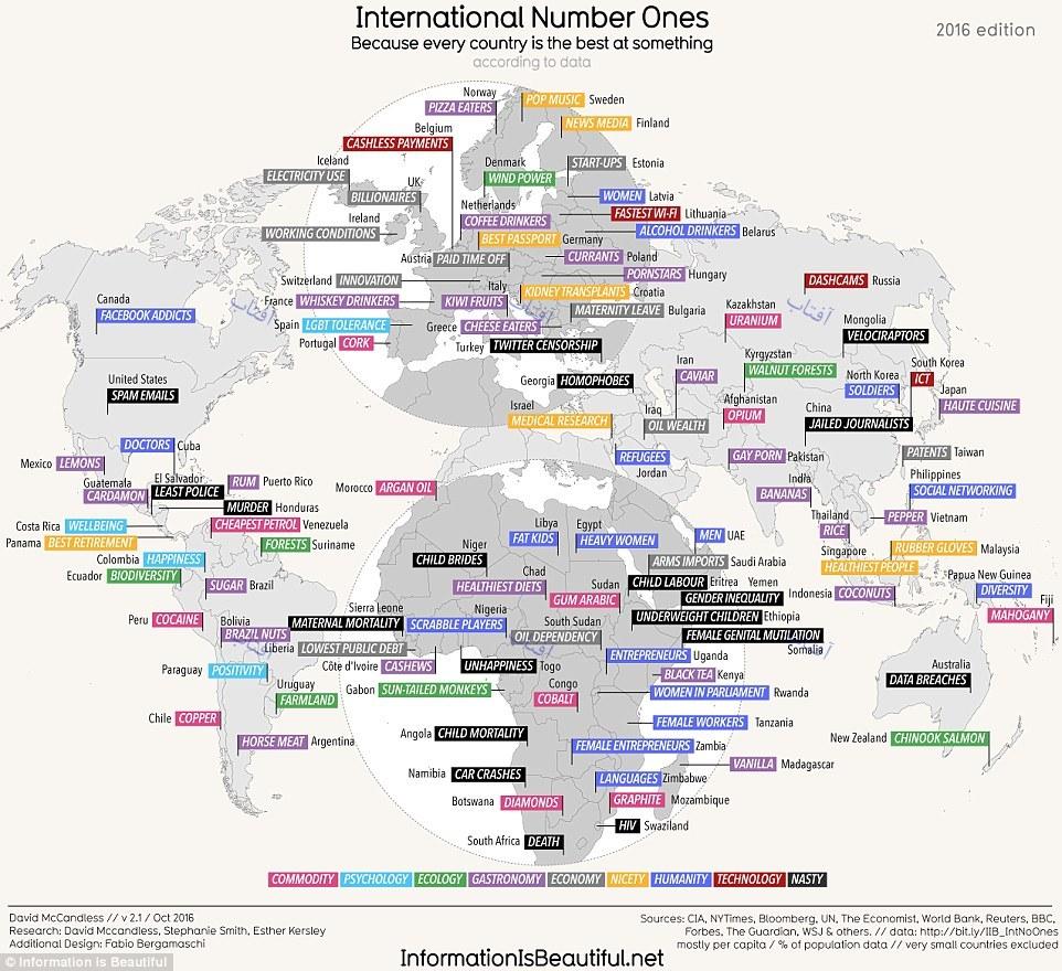 اولینهای شگفتانگیز جهان؛ از خاویار ایران تا بیشترین میزان تماشای فیلمهای مستهجن در پاکستان+نقشه